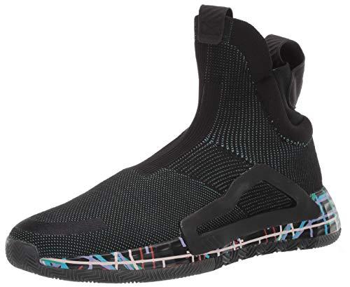adidas Women's N3XT L3V3L Baseball Shoe, Black/True Green/Clear Pink, 12.5 Medium US