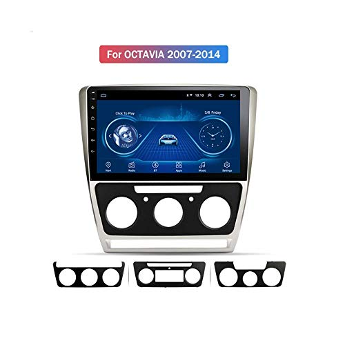 IF.HLMF Car Radio Stereo in Dash 9 Pulgadas Android 8.1 Navigator MP5 Player Compatible con Skoda Octavia (2007-2014), GPS Radio Stereo 2.5D Pantalla táctil, WiFi, BT, Marcha atrás, Mirror Link
