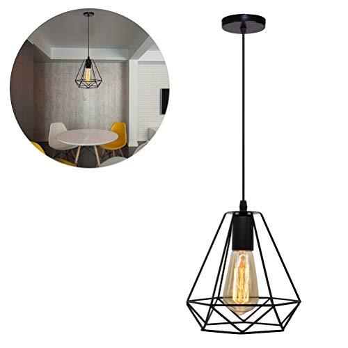 Einsgut Led-plafondlamp, zwart, draadlamp, retro hanglamp, continental, wijnberg Villa Hof veranda, gang, kroonluchter verlichting