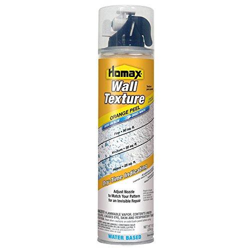 Homax 41072042963 Aerosol Wall Texture, Orange Peel, Water Based, 10 oz, White