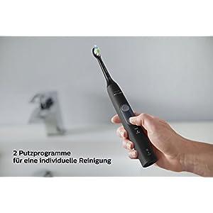 Philips Sonicare ProtectiveClean 4500 elektrische Zahnbürste HX6830/53 – Schallzahnbürste mit 2 Putzprogrammen, Andruckkontrolle, Timer & Reise-Etui – Schwarz