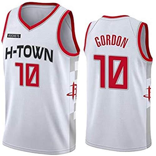 Rencai Eric Gordon # Baloncesto Jersey Nueva Calidad Tela Gran Houston Rockets 10 Multi-Estilo (Color : 2, Size : XXL)