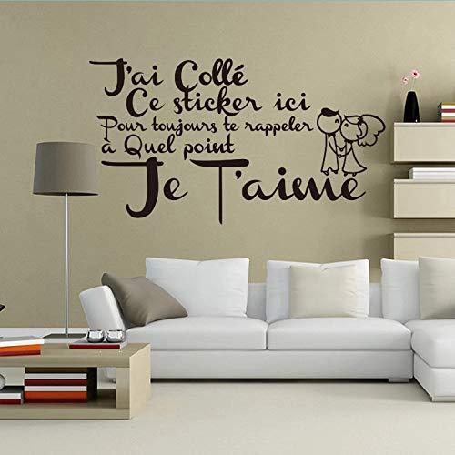 Cupido francés pegatina de pared de vinilo papel tapiz artístico de pared para sala de estar decoración del hogar decoración del hogar
