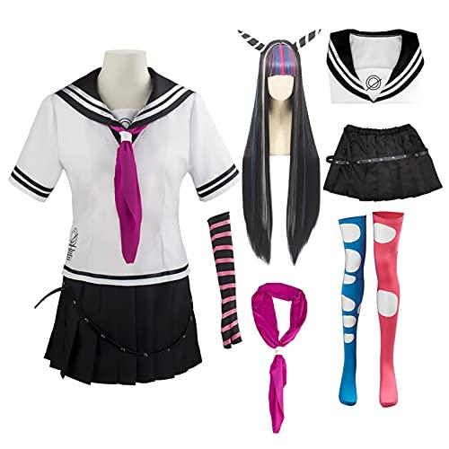 Disfraz de anime Super Danganronpa 2 Ibuki Mioda Uniforme Traje de Cosplay Conjunto Completo Mujeres Niñas Vestido Halloween Carnaval Disfraces
