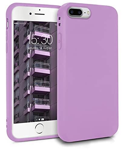 MyGadget Cover per Apple iPhone 7 Plus / 8 Plus - Custodia Protettiva in Silicone Morbido – Case TPU Flessibile - Protezione Antiurto & Antigraffio Lilla