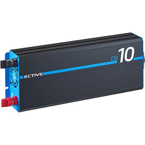 ECTIVE 1000W 12V zu 230V Reiner Sinus-Wechselrichter CSI 10 mit Batterie-Ladegerät, NVS und BVS