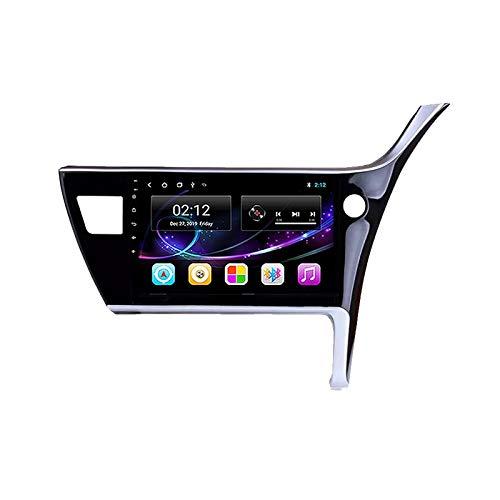 Android Radio De Coche Bluetooth, Autoradio, Apoyo Llamadas Manos Libres/FM Radio/1080P Video/WiFi/AUX Entrada, para Toyota Corolla 2017 con Cámara De Visión Trasera,Quad Core,WiFi 1+16
