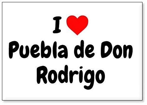 Mundus Souvenirs - Amo Puebla de Don Rodrigo, Imán para Nevera (diseño 2)