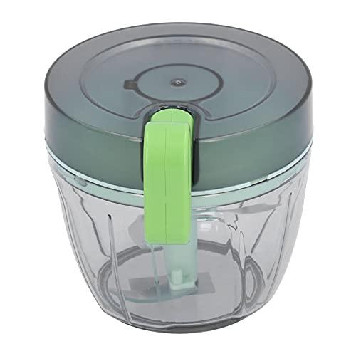 Astibym Trituradora de ajo, trituradora de ajo de Copa Transparente Espesa con Anillo Puul Cable de tracción para portátil al Aire Libre para Picnic de Camping