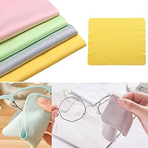 HFQF Paños de limpieza de gafas de microfibra, paños de limpieza de pantalla para gafas y portátiles, paño limpiador de gafas, sin pelusa, lavable, antiarañazos (15 cm x 15 cm) 1 pieza