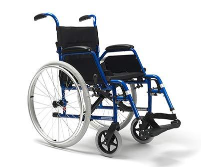 Zusammenfaltbarer Rollstuhl aus Stahl Modell VERMEIREN BOBBY   Sitzbreite:42cm   Höhe: 50 cm   Maximale Belastbarkeit: 115 kg