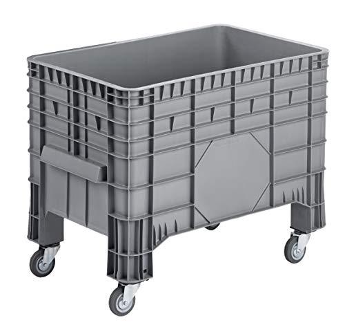 Transportbox, PC Wanne, Transportwanne, Grossbehälter, Kunststoffbehälter, Containerwagen, Größe: 104x 64x 78 cm mit 4 Lenkrollen