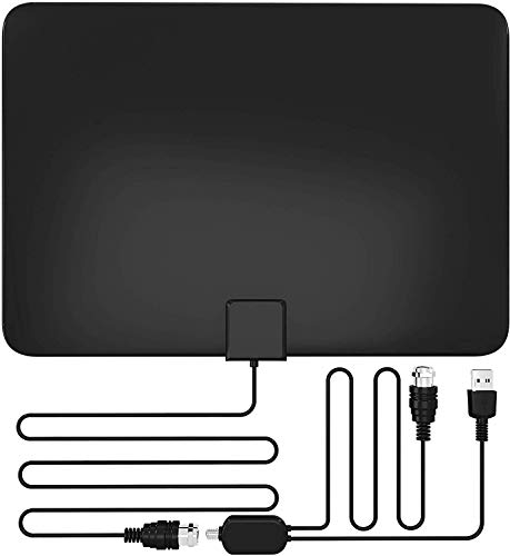 Amplified HD Digital TV Antenna, 80+ Miles, All Older TV's for Indoor TV Digital HD Antenna with Signal Booster, 13.2FT Coaxial Professional Version Cable Support 4K 1080P Life Local Channels