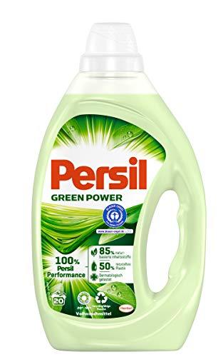 Persil Green Power, Vollwaschmittel, 20 Waschladungen mit naturbasierten Inhaltsstoffen, dermatologisch getestet