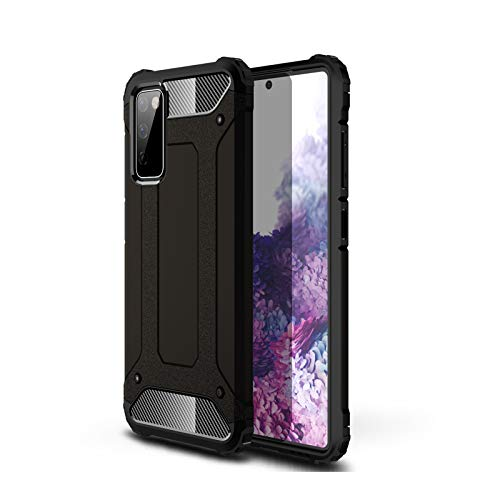 FANFO® Funda para Samsung Galaxy S20 FE/S20 Fan Edition(4G/5G), protección contra Golpes de TPU + PC Resistente a arañazos (Doble Capa) Carcasa para Samsung Galaxy S20 FE, Negro