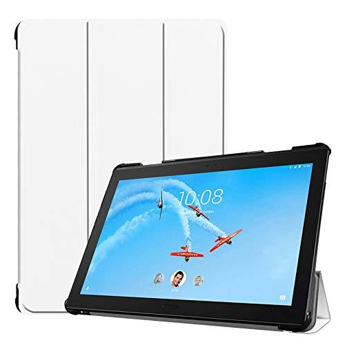 Lobwerk Hülle für Lenovo Tab P10 TB-X705F 10.1 Zoll Smart Cover Etui mit Standfunktion & Auto Sleep/Wake Funktion Weiß