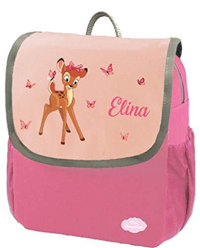 Mein Zwergenland Kindergartenrucksack Happy Knirps Next mit Name REH, 6L, Pink