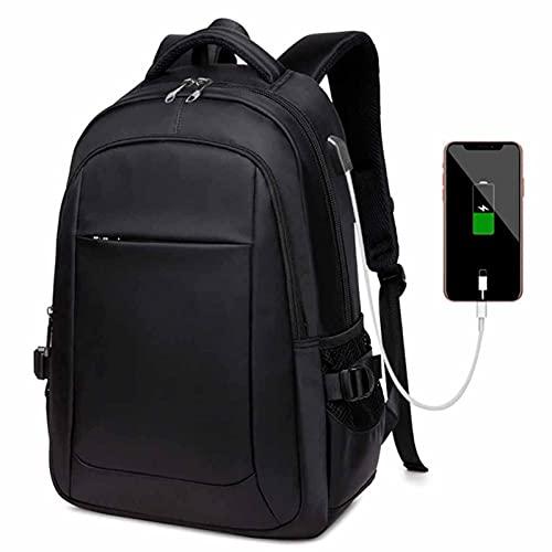 ANMJJ Estudiante Bolsas USB Carga Child Paquete De Doble Hombro Masculino Hembra Senderismo Deportes General,Negro