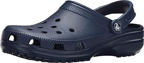 Zuecos Crocs Classic sin cordones, cómodos, para agua, Azul