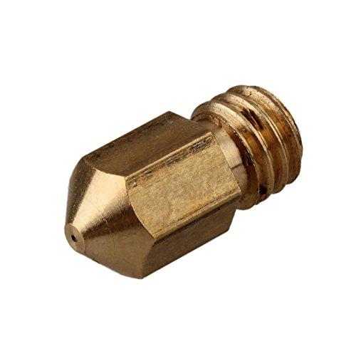 WEONE Giallo Rame 0,3 millimetri M6 rame estrusore ugelli della testina di stampa per 1,75 millimetri Filament MK8 stampante RepRap 3D (confezione da 5)