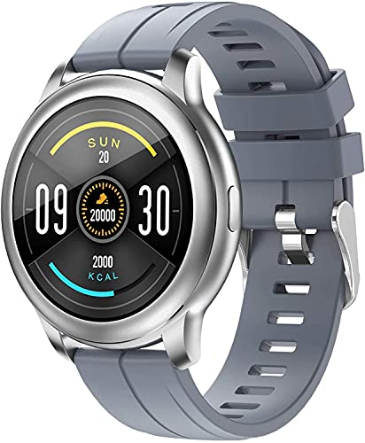 QHG Bluetooth Music Smart Watch for Women Men Touch Touch Full Touch Monitor Monitor Tracker Múltiple Reloj de Fitness Deportes (Color : Gray)