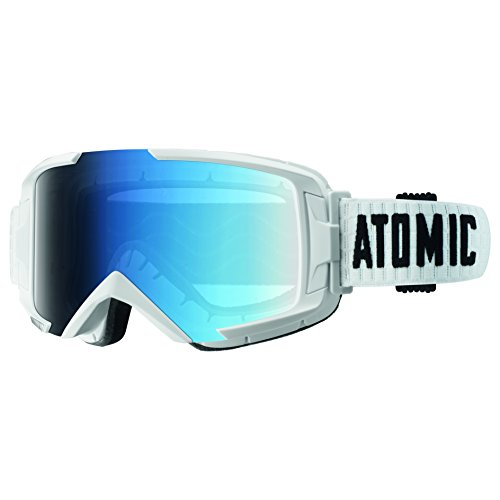 Atomic dames/heren skibril voor brildragers, all-weer, pasvorm M, Live-Fit frame, oversized look, savor fotochromic, blauw/wit, AN5105284