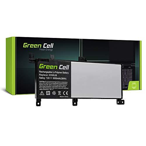 Green Cell® C21N1509 Batería para ASUS X556U X556UA X556UB X556UF X556UJ X556UQ X556UR X556UV Ordenador (5000mAh 7.6V Negro)