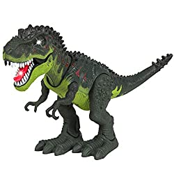 Walking Dinosaur T-Rex Toy Figure with Many Lights & Loud Sounds, Real Movement
