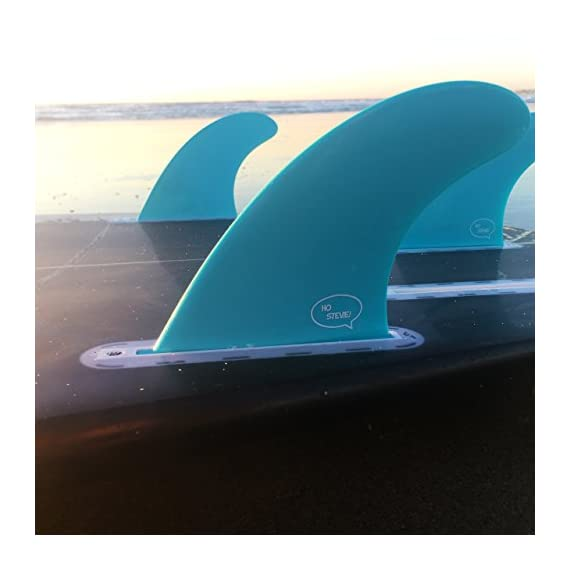 Ho Stevie! Fiberglass Reinforced Polymer Surfboard Fins - Thruster (3 Fins) FCS or Futures Sizes, with Fin Bag, Screws… 5 🏄♂️ THRUSTER FINS fit any surfboard that uses FCS (original or FCS II) or Futures fins (select which kind) - whether it's a shortboard, funboard, or longboard. 🌊 BALANCED FIN TEMPLATE is suited for all types of waves. Hit the accelerator at your favorite point break, boost some airs, or lay into some wedges at the nearest beachbreak. 🎁 INCLUDES EVERYTHING YOU NEED: 3 surfboard fins, wax comb / fin key / bottle opener, fin screws, and travel case.