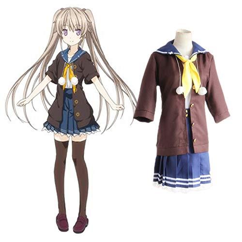 Traje De Cosplay Del Anime Cuatro Ritmo Beyond Blue Mashiro Arisaka De Disfraces De Halloween Alt Set Liner + Top + Skirt + Pajarita + Bola Bola De La Cuerda M