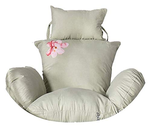 DYYD - Cojín para silla de huevo, cojín para silla de huevo, cojín para silla con columpio, cesta colgante de huevo, hamaca, cojines extraíbles y lavables, color: P, tamaño: 100 x 110 cm