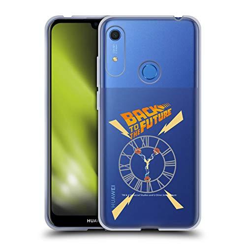 Head Case Designs Oficial Back to The Future Torre del Reloj I Gráficos Carcasa de Gel de Silicona Compatible con Huawei Y6 / Y6s (2019)