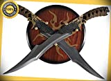 18.75'' Legolas Elven Swords with Wooden Plaque Display Wall Hanger Brand New perfect for cosplay outdoor camping