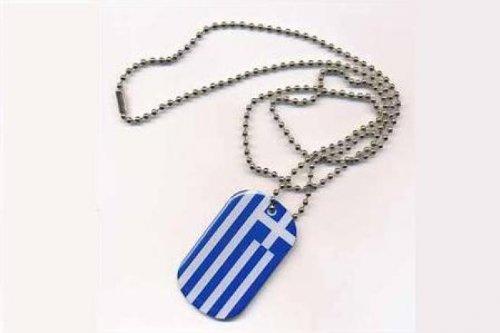 Erkennungsmarke DOG TAG Griechenland Fahne Flagge Kette