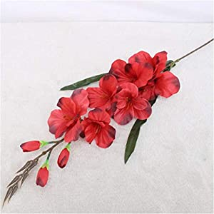 70cm 7 Head Artificial Gladiolus Flower Silk Orchid Plants Autumn Sword Orchid Decor Wedding Fake Flower Table Christmas Party