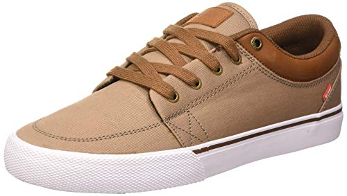 GLOBE GS, Zapatillas de Skateboard para Hombre, Gris (Woodsmoke Twill/Brown 16316), 42 EU