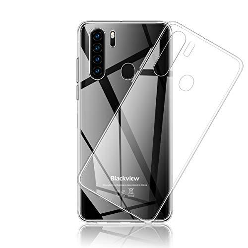 Aerku Hülle für Blackview A80 Pro/Blackview A80 Plus, [Kratzfest] [Anti-Fall] [Stoßdämpfung] Ultra-dünne TPU Silikon Gel-Abdeckung Transparent Handyhülle [Transparent]