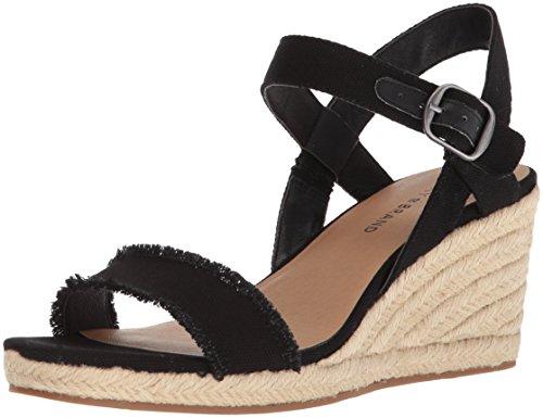 Lucky Brand Women s Marceline Espadrille Wedge Sandal, Black, 5 M US