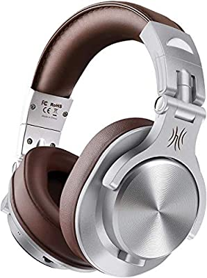 OneOdio A70 Over Ear Bluetooth Headphones, Foldable Wireless and Wired Headset with Microphone, Professional Studio Monitor Mixing Headphones for TV/PC/Phone by Wanzhao Audio