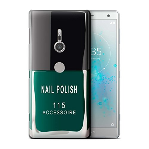 Stuff4® hoes/case voor Sony Xperia XZ2 / groen patroon/nagellak/make-up collectie