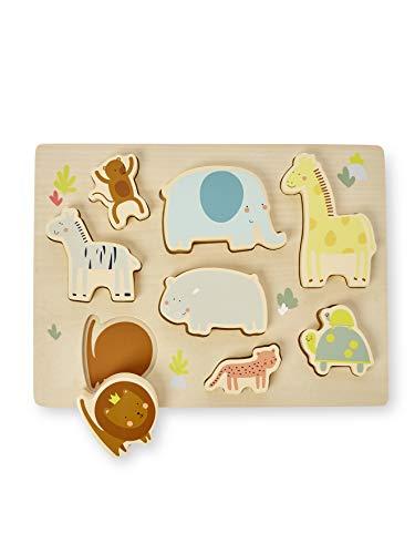 Vertbaudet Steckpuzzle ,,Dschungel, Kleinkinder Mehrfarbig ONE Size