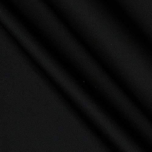 Carr Textile Micro Fiber DWR Poplin Fabric, Black, Fabric by the yard
