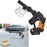 Aimee_JL Electric Pressure Washer Power Washer Cordless Portable Handheld 320 PSI Car Wash Pressure Water Nozzle Cleaning Machine Kit