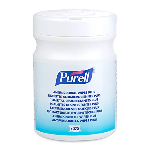 Purell 9213-06-EEU00 Toallitas antimicrobianas Plus, bote de 270 unidades.
