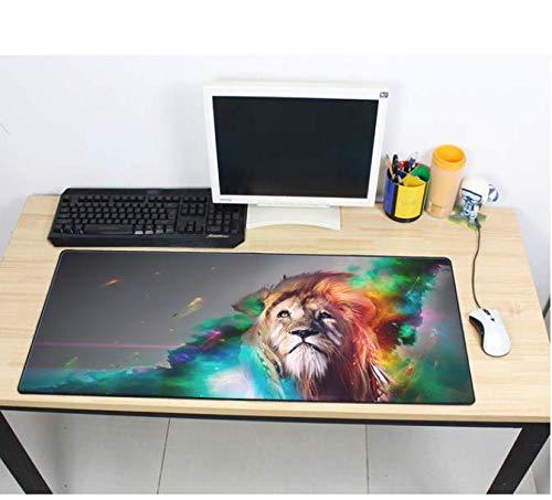 Grote Muis Pad Gekleurde Leeuw Snelheid Toetsenborden Mat Rubber Gaming Mousepad Bureau Mat Game Player Desktop Pc Laptop Mat 900 * 400 * 3Mm