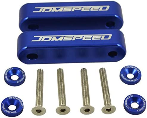 """JDMSPEED Anodized Red Hood Spacer Hood Riser 3/4"""" Replacement for Honda Civic CRX Del Sol Acura Integra"""