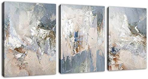 Abstract Canvas Wall Art Modern Abstract Painting Prints Blue Grey Canvas Picture Artwork Contemporary product image