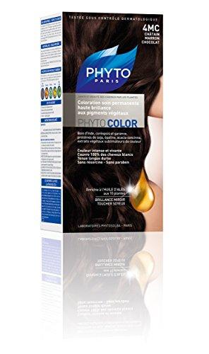 Phyto Color Coloration Soin Permanente Haute Brillance aux Pigments Végétaux - N°4MC : Châtain Marron Chocolat