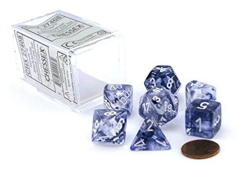 Chessex Nebula Black 7 piece dice set CHX-27408, Model: NA, Toys & Gaems