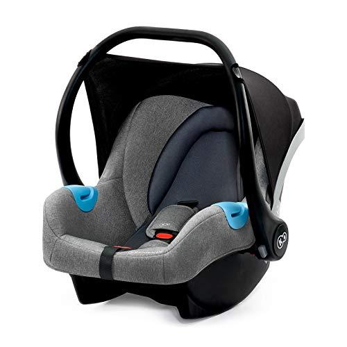 Kinderkraft Babyschale MINK, Babytrage, Kindersitz, Autositz, Kinderautositz, Gruppe 0+ 0-13kg, von Geburt, Wippe, für jüngste Kinder, ECE R44/04, Grau